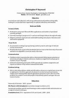 Sample Of Skills Example Skills Based Cv