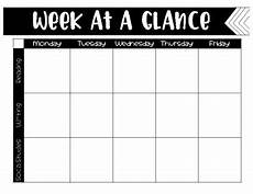 Day At A Glance Template Week At A Glance Template By Life With Ms W Teachers Pay