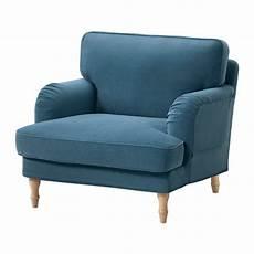 fauteuil sessel stocksund fauteuil ljungen blauw lichtbruin ikea