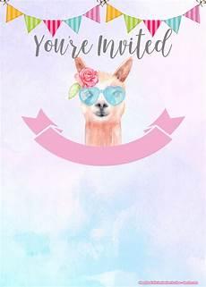 Cute Invitation Templates Free Llama Birthday Invitation Templates Download