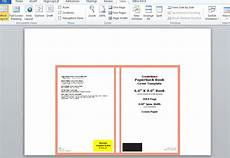 How To Create A Book Template In Word How To Make A Full Print Book Cover In Microsoft Word For