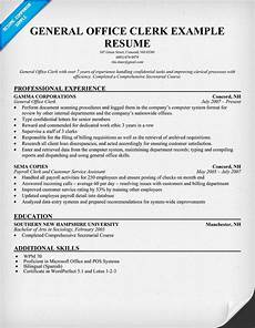 Office Duties Resume General Office Clerk Resume Resumecompanion Com