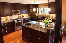 Dark Cabinet Kitchen Design Ideas Baltic Brown Granite Countertops Texture And Charm To