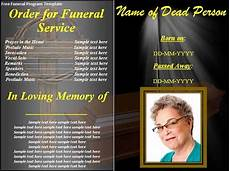 Funeral Program Templates Free Free 38 Sample Funeral Programs Templates In Pdf Ms