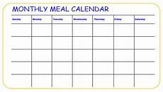 Meal Prep Calendar Meal Calendar Templates 10 Free Word Pdf Format