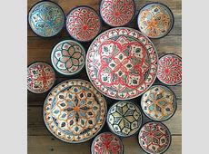 Moroccan plates   Moroccan plates, Plates on wall, Decor