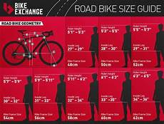 Bike Size Chart By Height Road Bike Size Chart Bicycle New England