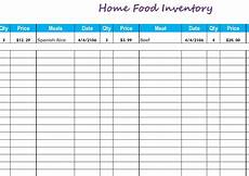 Inventory Register Format Home Food Inventory My Excel Templates