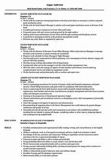 Guest Services Resume Guest Services Manager Resume Samples Velvet Jobs