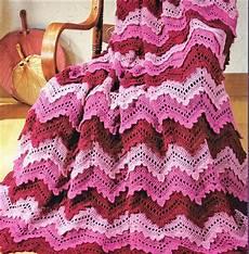 afghan crochet pattern crochet afghan pattern ripple afghan