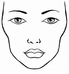 Brown Face Chart Blank Blanco Facecharts To Create Makeup Looks On Paper Great