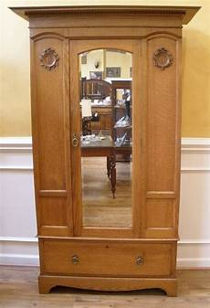 mirrored wardrobe armoire antique oak