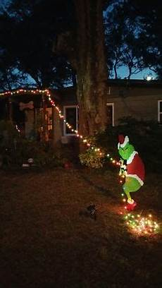The Grinch Pulling Down Lights 50 Beautiful Outdoor Christmas Decoration Ideas Holidays