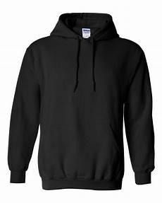 Blank Black Hoodie Template Gildan Hooded Sweatshirt Black Blank Hoodie 18500 Ebay