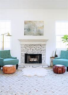 before and after fireplace makeover reveal in honor of