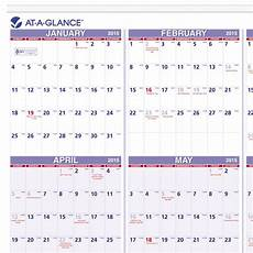 At A Glance Yearly Calendar Amazon Com At A Glance Yearly Wall Calendar 2015 24 X