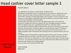 Cover Letter For Cashier Position Head Cashier Cover Letter