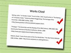 Works Cied 4 Ways To Write A Works Cited Page Wikihow