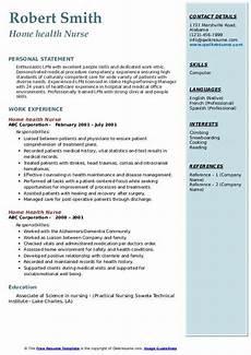 Home Health Care Resume Home Health Nurse Resume Samples Qwikresume