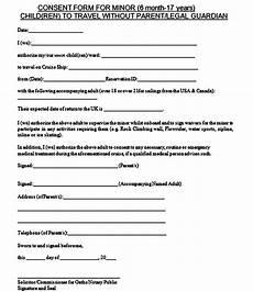 Child Travel Consent Form Samples Sample Child Travel Consent Form With Images Child