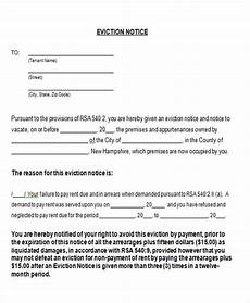Eviction Notice Form 16 Notice Forms In Word