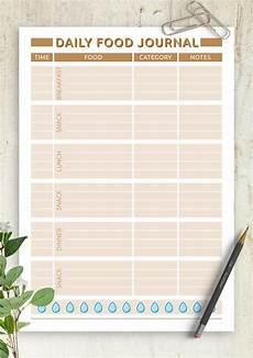 Free Daily Diary Template Download Printable Daily Food Journal Pdf