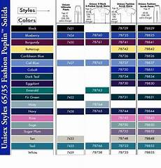 Scrub Color Chart Unisex Scrubs Color Chart