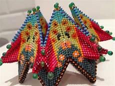 contemporary geometric beadwork my own fortuneteller