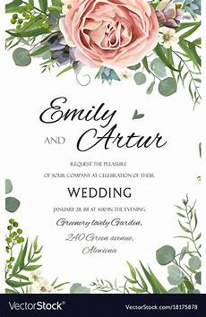 Wedding Save The Date And Invitations Wedding Invitation Invite Save The Date Floral Vector Image