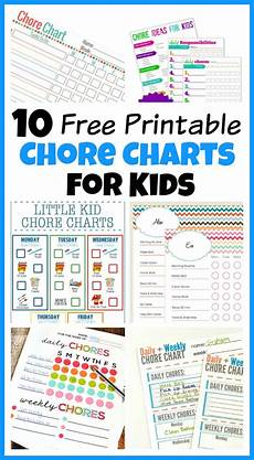 Chore Chart Pictures 10 Free Printable Chore Charts For Kids