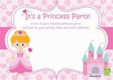 Free Princess Invitations Free Princess Birthday Invitations Bagvania Free