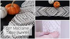 how to make a macrame table runner diy tutorial