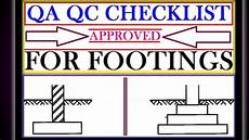 Qa Analyst Interview Questions Qa Qc Interview Questions Checklist For Footings Qa Qc
