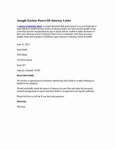 Power Of Attorney Letter Sample Authorization Sample Enclose Power Of Attorney Letter