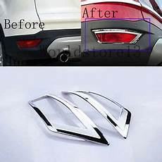 2013 Ford Escape Abs Light Abs Chrome Rear Bumper Fog Light Lamp Cover Trim For Ford