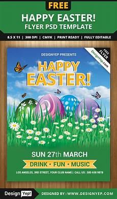Flyer Templet Free Happy Easter Flyer Psd Template Designyep