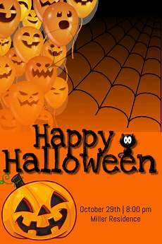 Word Halloween Templates Happy Halloween Template Postermywall