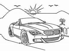 Car Coloring Sheets Yang Bagus Convertible Coloring Page Cabriolet Drawing For Gambar