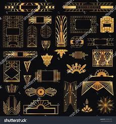 Art Deco Vector Art Deco Vintage Frames Design Elements Stock Vector