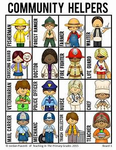 Our Helpers Chart Community Helpers And Occupations Bingo Game Community