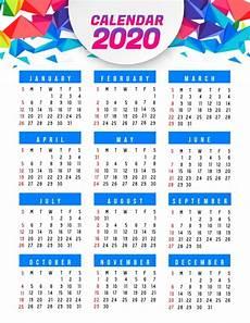 Calendar Template 2020 2020 Calendar Template Postermywall