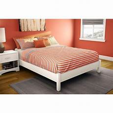 south shore step one size platform bed in white