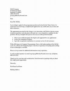Example Of Cover Letters For Jobs 20 Sample Of Cover Letter For Job Application 17