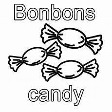 kostenlose malvorlage englisch lernen bonbons zum