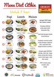 sawsawlady menu diet atkins bergambar untuk seminggu