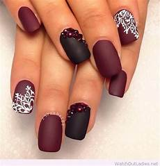 Burgundy And Black Nail Designs 13 Cute Burgundy Nails That Will Catch Your Eye