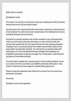 Employee Termination Letter Sample How To Write A Termination Letter With Sample Workest