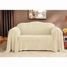 Throw Slipcover Sofa 3d Image by Sure Fit Plush Throw Sofa Skirted Slipcover Reviews