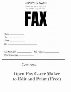 Free Printable Fax Sheet Free Fax Cover Sheet Customize Online Then Print