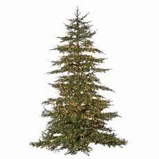 7 5 Slim Christmas Tree With Led Lights Sterling 7 5 Ft Pre Lit Led Natural Cut Monaco Pine